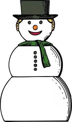 free vector Snow Woman clip art