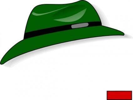 Green Fedora clip art