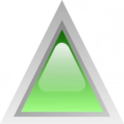 Led Triangular 1 (green) clip art