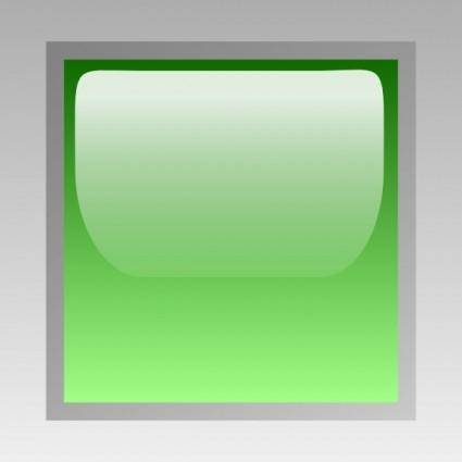Led Square (green) clip art