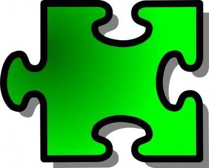Jigsaw Green clip art