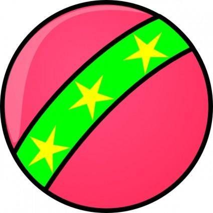 Toy Ball With Stars clip art