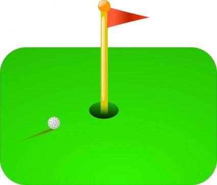 free vector Golf Flag + Ball clip art