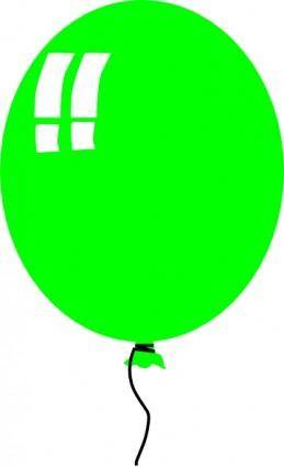 Green Helium Baloon clip art