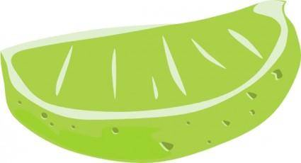 free vector Lime Wedge clip art