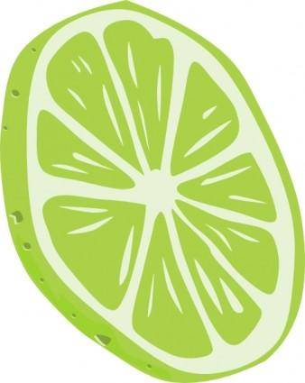 free vector Lime (slice) clip art
