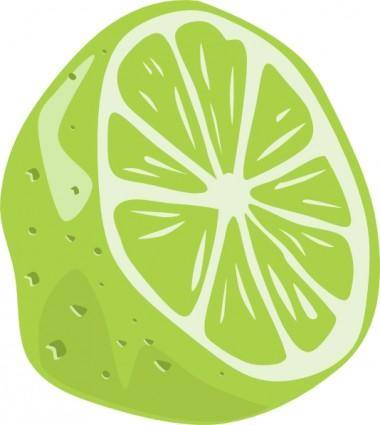 Half Lime clip art