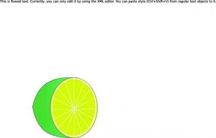 free vector Lime Half clip art