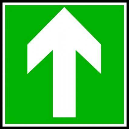 Directional Sign Continue Straight clip art