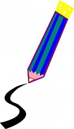 Pencil Drawing A Line clip art
