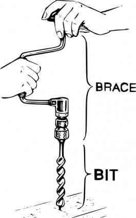 free vector Manual Drill clip art