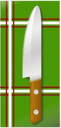 Knife On Table clip art