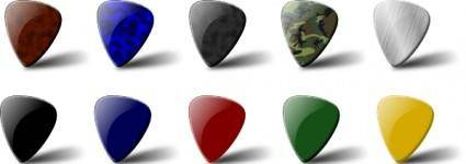 Guitar Pick Set clip art