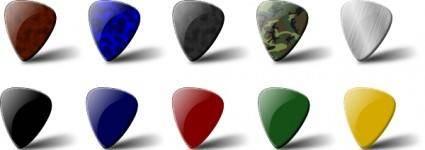 Guitar Pick Set clip art