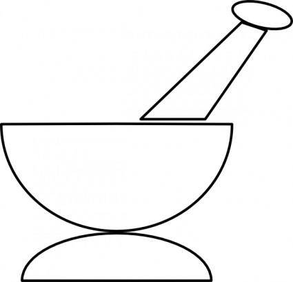 Mortar And Pestle clip art