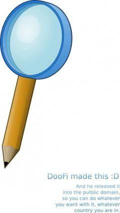 Pencil With A Magnifying Lens clip art