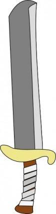 Sword Machete clip art