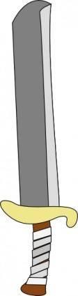 free vector Sword Machete clip art
