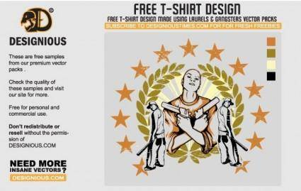 free vector Gangsta T-Shirt Design