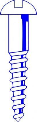 Wood Screw Blue clip art