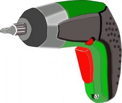 Screwdriver Battery Powered Electric clip art