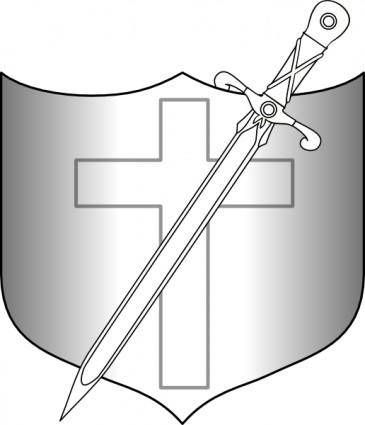 Jonadab Shield And Longsword clip art