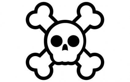 free vector JollyRogersSkull