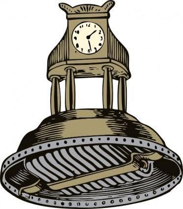 free vector Self Winding Clock clip art