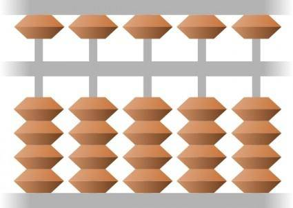 free vector Japanese Abacus clip art