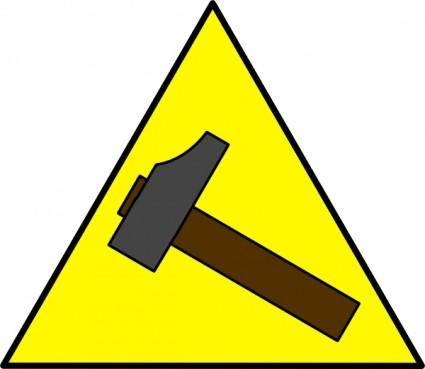 Hammer Sign clip art