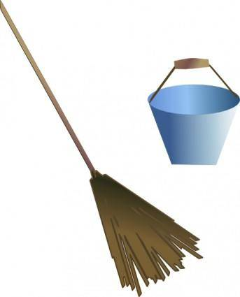 free vector Broom Bucket clip art
