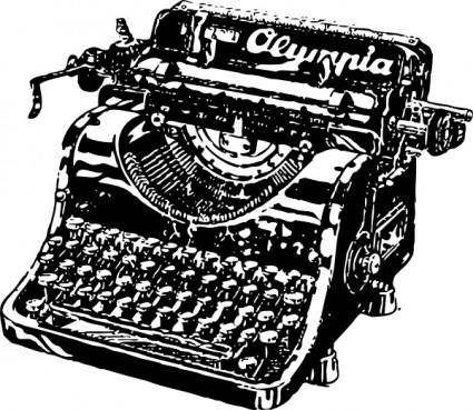 free vector Typewriter clip art
