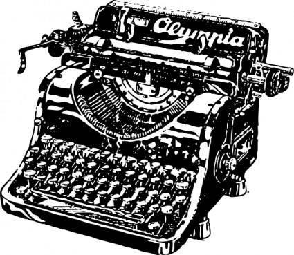 free vector Typewriter clip art