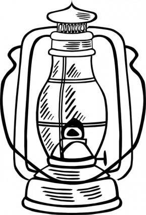Hurricane Lamp clip art