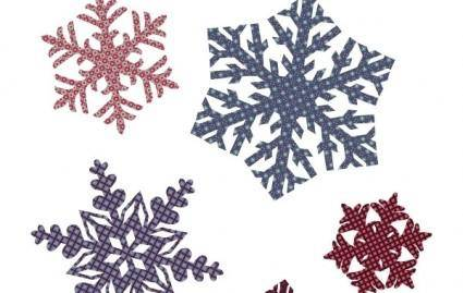 free vector Quilted Snowflakes