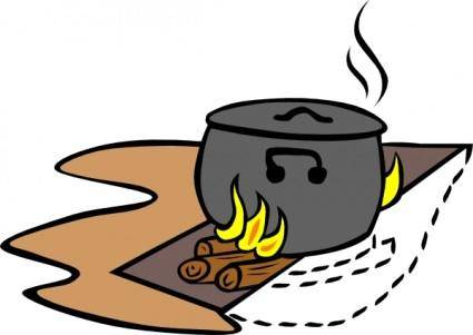Campfires And Cooking Cranes clip art