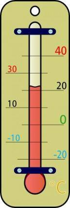 Room Thermometer With Celsius Skala clip art