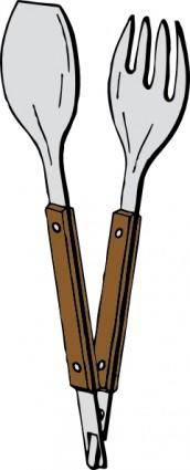 Salad Tongs clip art