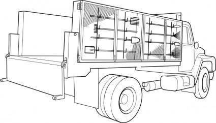 free vector Utility Truck clip art
