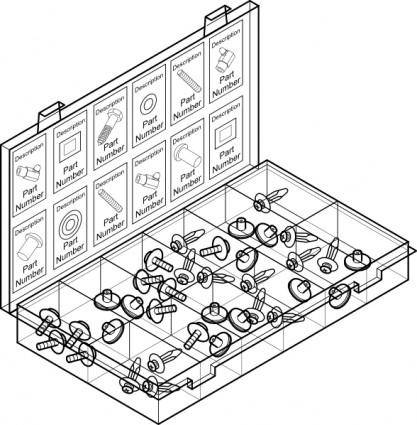free vector Parts Container clip art