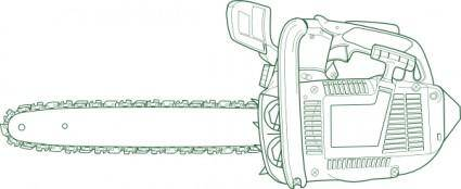 free vector Chain Saw 	 clip art