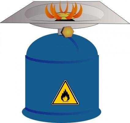 Camping Gas Burner clip art