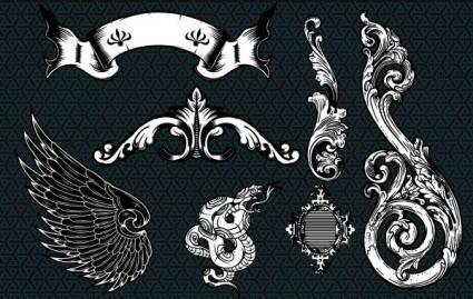 free vector Pale Horse Design Sampler Set