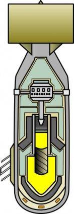 free vector Little BoyAtomic Bomb clip art