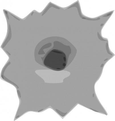 free vector Bullet Hole clip art