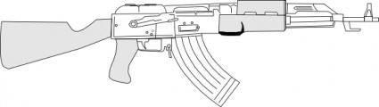 free vector Ak47 clip art
