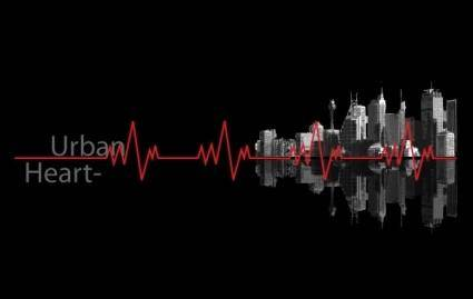 free vector Urban Heartbeat