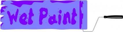 free vector Wet Paint Sign clip art