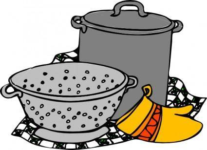free vector Cooking Pans Glove clip art