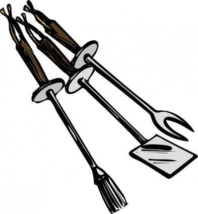 Bbq Grilling Tools clip art